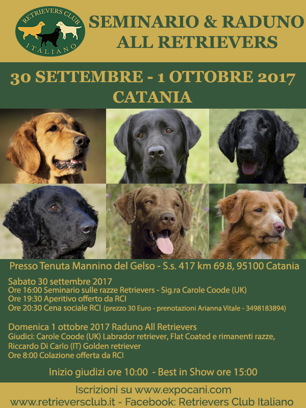 Expocani Calendario.Seminario E Raduno All Retrievers Catania 30 Settembre 1